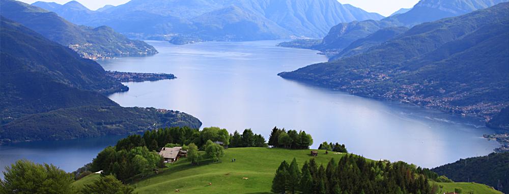 lago di como panorama campig domaso